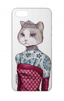 Cover Bicomponente Apple iPhone 5/5s/SE - Gattina principessa bianco