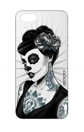 Cover Bicomponente Apple iPhone 5/5s/SE  - Calavera bianco e nero