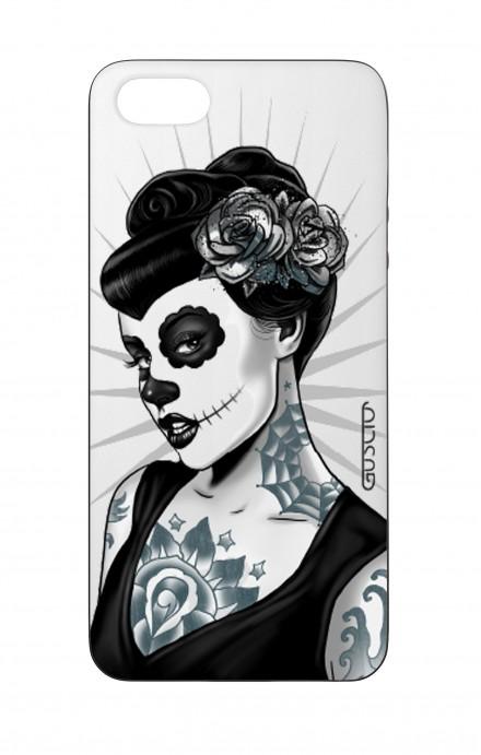 Cover Bicomponente Apple iPhone 5/5s/SE  - Calavera bianco e nero