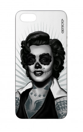Cover Bicomponente Apple iPhone 5/5s/SE  - Marilyn Calavera bianco