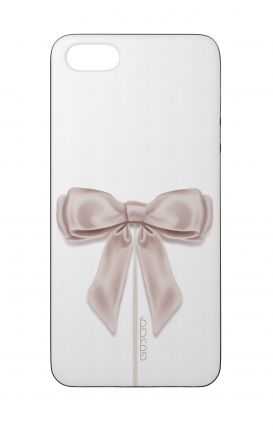 Cover Bicomponente Apple iPhone 5/5s/SE  - Fiocco di raso bianco