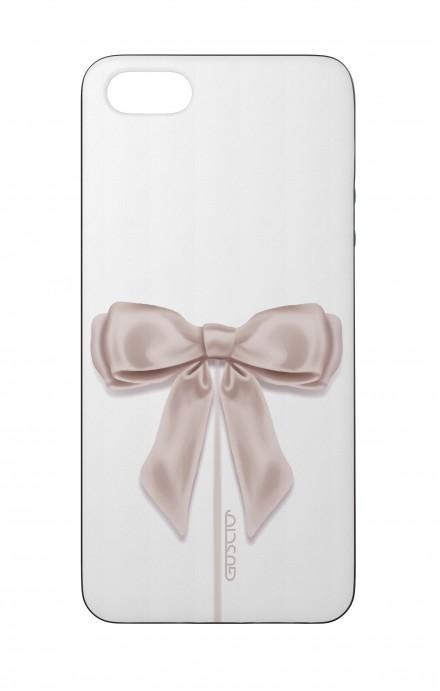 Cover Bicomponente Apple iPhone 5/5s/SE  - Fiocco di raso bianco