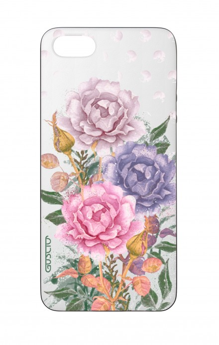 Cover Bicomponente Apple iPhone 5/5s/SE  - Bouquet e pois bianco