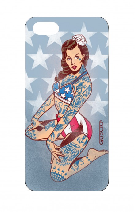 Cover Bicomponente Apple iPhone 5/5s/SE  - Pin Up Stelle e Strisce
