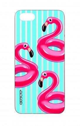 Cover Bicomponente Apple iPhone 5/5s/SE - Fenicotteri gonfiabili