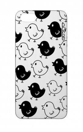 Cover Bicomponente Apple iPhone 5/5s/SE  - Pulcini Bianco e Nero