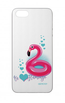 Apple iPhone 5 WHT Two-Component Cover - We Love Flamingo