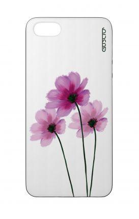 Cover Bicomponente Apple iPhone 5/5s/SE - Fiori su bianco
