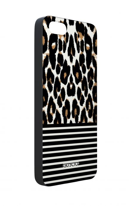 Apple iPhone 5 WHT Two-Component Cover - Animalier & Stripes