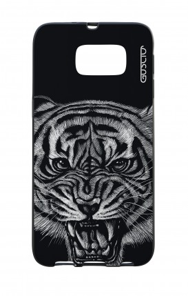 Samsung S6 WHT Two-Component Cover - Black Tiger