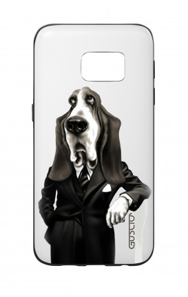Samsung S7 WHT Two-Component Cover - Elegant Bassethound
