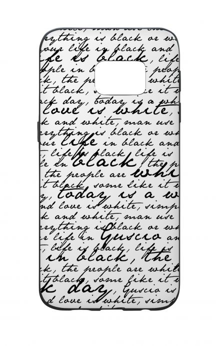 Samsung S7 WHT Two-Component Cover - B&W Letter