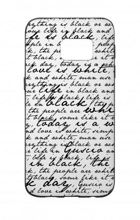 Cover Bicomponente Samsung S7 - Scritte in bianco e nero