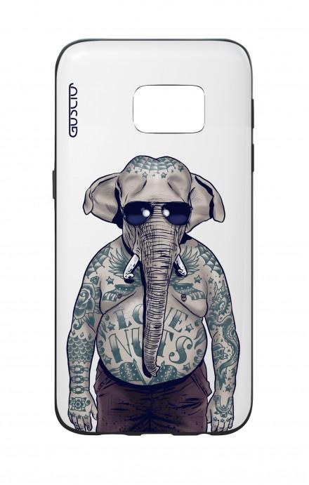 Cover Bicomponente Samsung S7  - Uomo elefante bianco