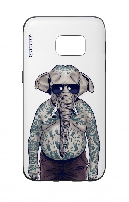 Samsung S7 WHT Two-Component Cover - WHT Elephant Man