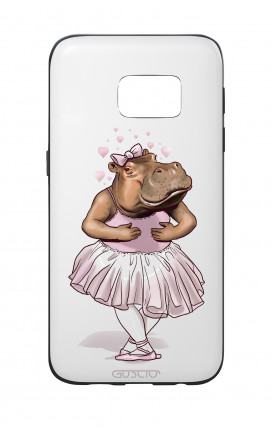 Samsung S7 WHT Two-Component Cover - WHT Hippo Dancer