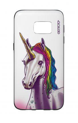 Cover Bicomponente Samsung S7  - Unicorno bianco