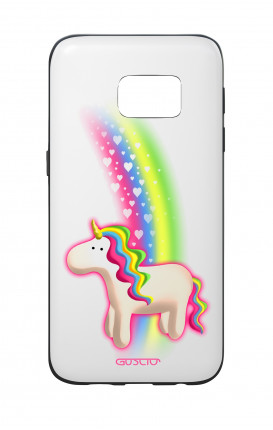 Samsung S7 WHT Two-Component Cover - WHT Rainbow Unicorn