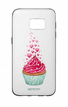 Samsung S7 WHT Two-Component Cover - WHT Cupcake in Love