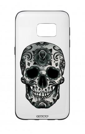 Cover Bicomponente Samsung S7  - Teschio calavera scuro