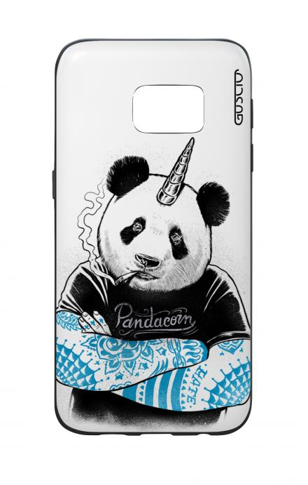 Samsung S7 WHT Two-Component Cover - WHT Pandacorn Tattoo