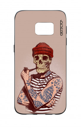 Samsung S7 WHT Two-Component Cover - Skull Sailor with Red Cup