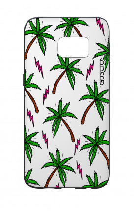 Samsung S7 WHT Two-Component Cover - Palms & Thunder