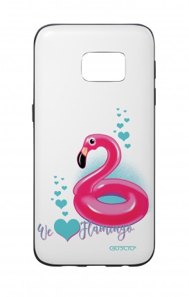 Cover Bicomponente Samsung S7 - We love Flamingo