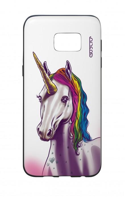 Cover Bicomponente Samsung S7 Edge  - Unicorno bianco