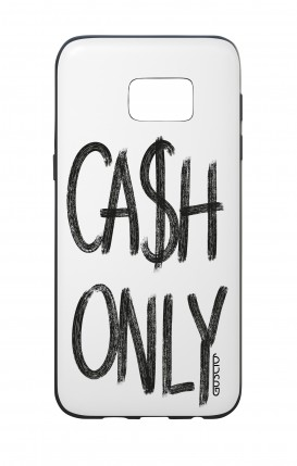 Cover Bicomponente Samsung S7 Edge - Cash Only bianco
