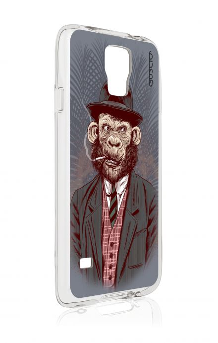 Cover Samsung Galaxy S5 GT G900 - Monkey Gentleman