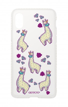 Apple iphone X Diamonds cover - Llamacorns pattern transparent
