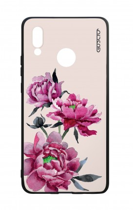 Huawei P20Lite WHT Two-Component Cover - Pink Peonias