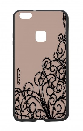 Huawei P10Lite White Two-Component Cover - Lace Chocolate
