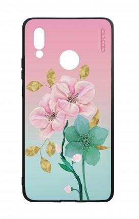 Cover Bicomponente Huawei P20Lite - Fiori rosa
