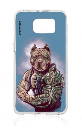 Cover TPU Samsung Galaxy S6 Edge  - Pitbull Tattoo