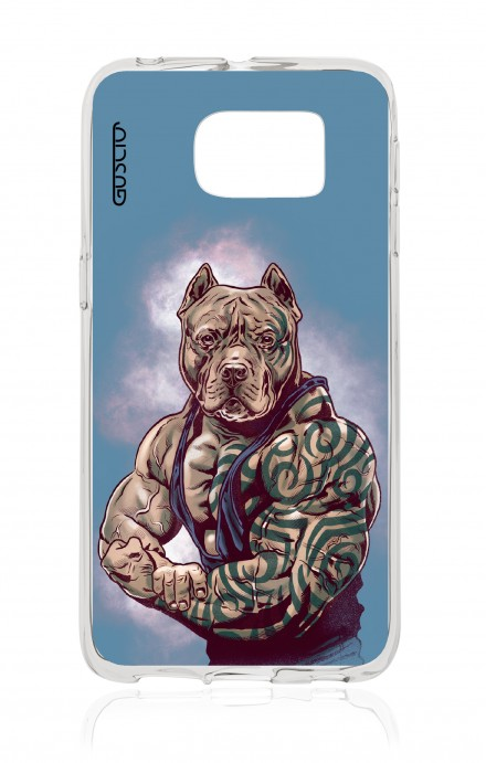Cover TPU Samsung Galaxy S6 Edge  - Pitbull Tattoo