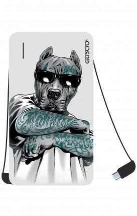 Power Bank 5000mAh iOs+Android - Tattooed Pitbull