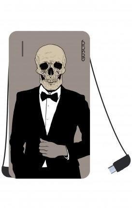 Power Bank 5000mAh iOs+Android - Tuxedo Skull
