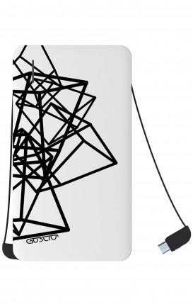 Power Bank 5000mAh iOs+Android - Geometric shapes