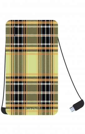 Power Bank 5000mAh iOs+Android - Tartan giallo
