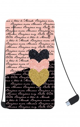 Power Bank 5000mAh iOs+Android - Hearts on words