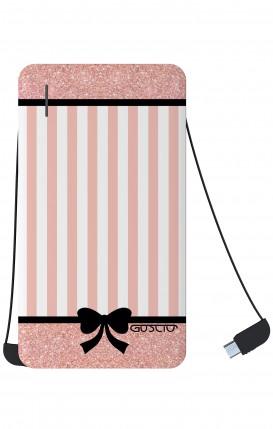 Power Bank 5000mAh iOs+Android - Romantic pink