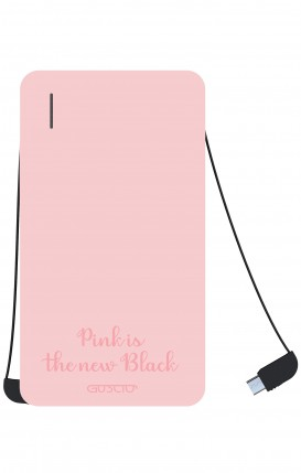 Power Bank 5000mAh iOs+Android - Pink is the new Black