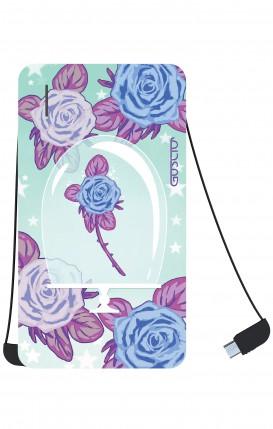 Power Bank 5000mAh iOs+Android - Enchanting Rose