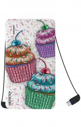 Power Bank 5000mAh iOs+Android - Cupcakes