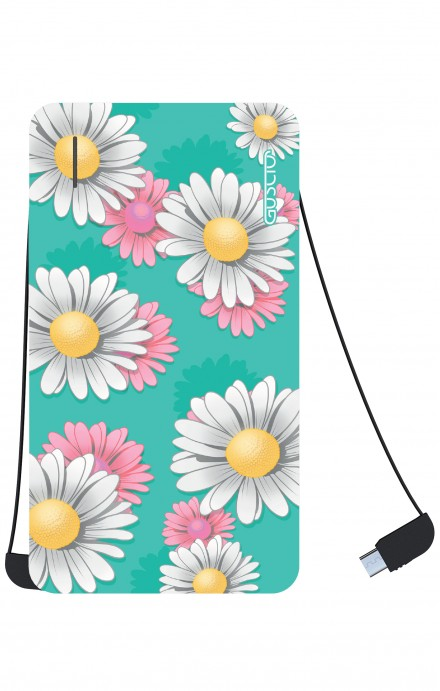 Power Bank 5000mAh iOs+Android - Margherite Pattern