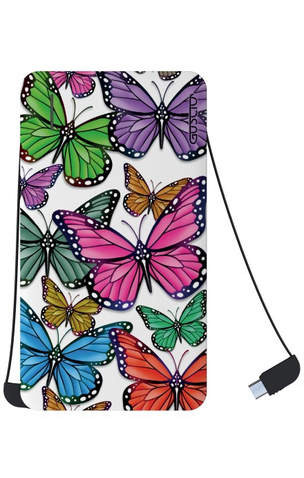 Power Bank 5000mAh iOs+Android - Farfalle colorate Pattern