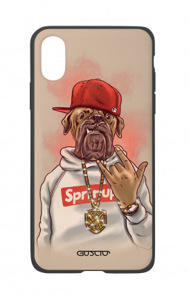 Apple iPh XS MAX WHT Two-Component Cover - Rap Dog
