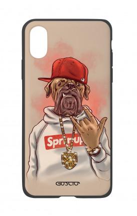 Cover Bicomponente Apple iPhone XS MAX - Mastino Rap